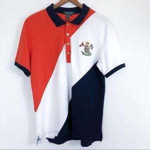 Lauren Ralph Lauren Polo Shirt Color Block Stripe